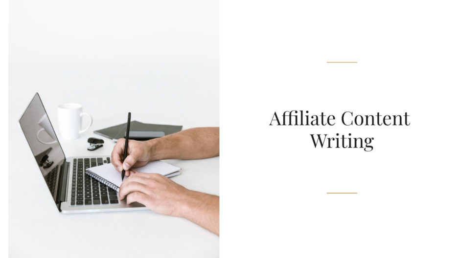 Affiliate Content Writing