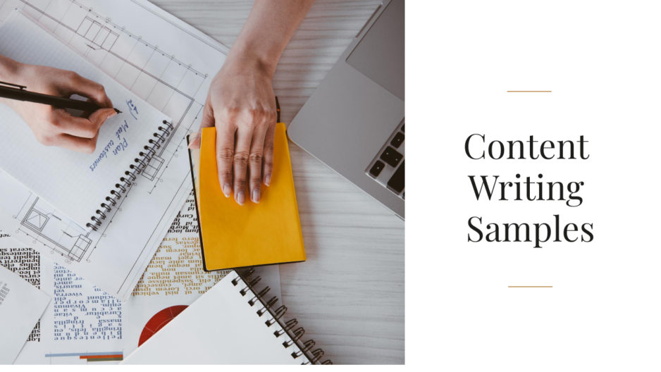 Content Writing Samples